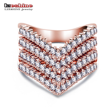 Buy LZESHINE New Fashion Female Wedding Bands Jewelry Rose Gold Color Engagement Ring Women CZ Stone Paved Promise Rings CRI0333 for $2.99 in AliExpress store