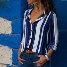 Women Blouses 2019 Fashion Long Sleeve Turn Down Collar Office Shirt Chiffon Blouse Shirt Casual Tops Plus Size Blusas Femininas(China)