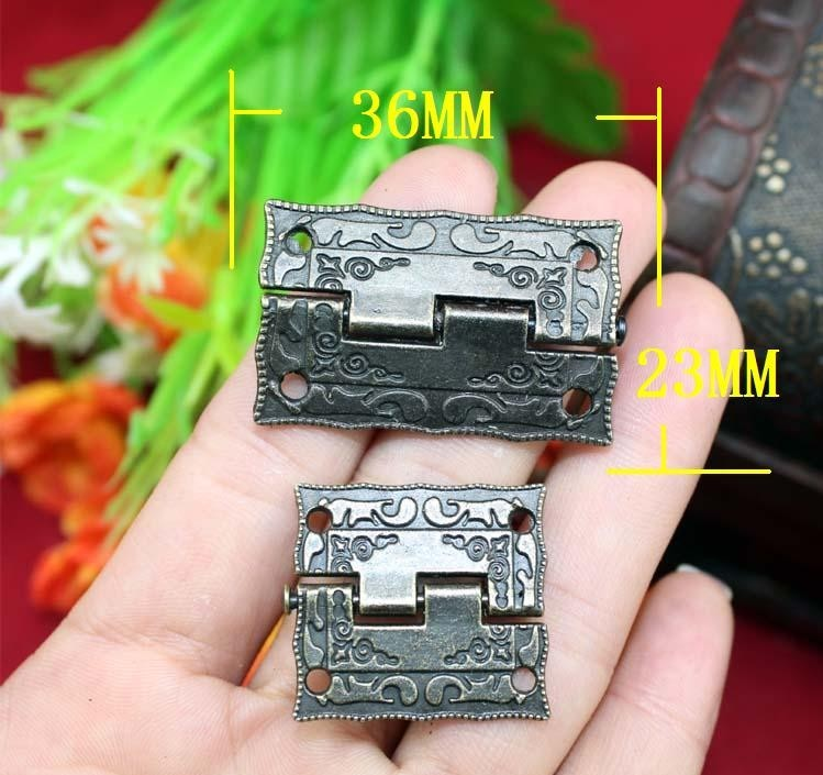 Fast Shipping 1.5-inch alloy hinge antique wooden stamp hinge 36 * 23MM Box Hinge(China (Mainland))