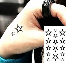Coolest Character Small Stars 3D Tattoo Wrist Finger 10.5*6cm Waterproof Summer Beach Party Temporary Body Art FREE SHIPPING