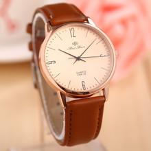 Feifan de gama alta Men Women Watch alta calidad 2015 nueva moda Casual de negocios de cuero reloj de cuarzo analógico reloj Relogios Relojes