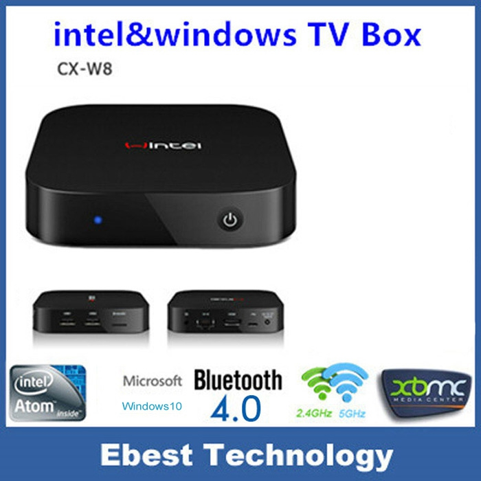 Hot Selling Wintel CX-W8 Mini PC Windows 8.1 Android 4.4 Dual OS with 2GB/32GB Intel Atom Z3735F W8 Portable For TV Phone Tablet(China (Mainland))