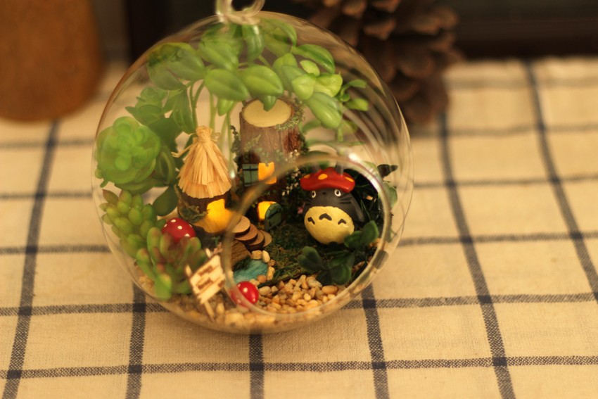 Diy Doll Home Mini Glass Ball Mannequin Constructing Kits Handmade Wood Miniature Dollhouse Toy Christmas Reward -Elves Of Tribal