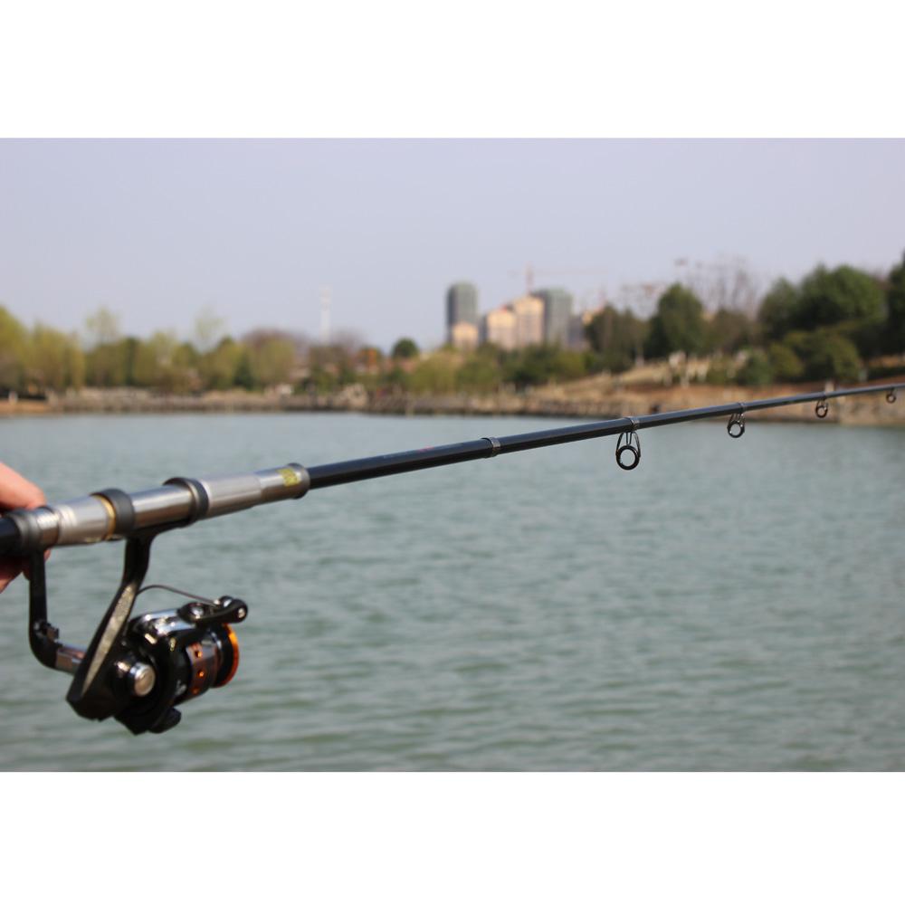 Hot 2.1M/2.4M/2.7M Telescopic Fishing Pole Carbon Fiber Fishing Rods Portable Travel Spinning Fishing Pole(China (Mainland))