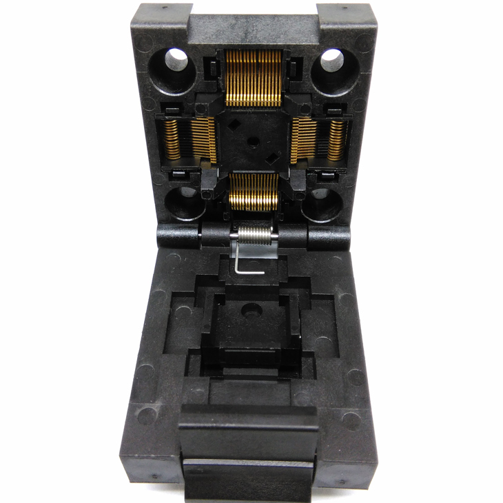 QFP64 TQFP64 LQFP64 Burn in Socket Pin Pitch 0.5mm IC Body Size 10x10mm FPQ-64-0.5-06 Flash Test Socket Adapter