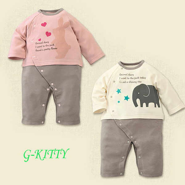 New 2015 One-Pieces best quality Carters Baby boy girl rompers casual brand winter newborn jumpsuit rabbit elephant baby clothes(China (Mainland))