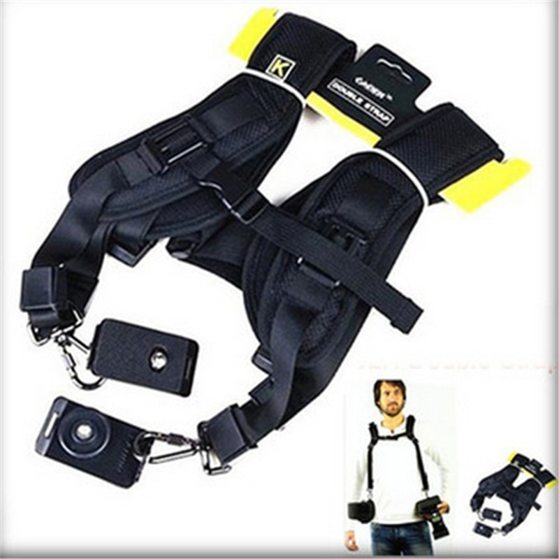 Black Professional universal portable Safe Double Shoulder quick strap Belt Sling camera bag wrist strap for Canon Nikon<br><br>Aliexpress
