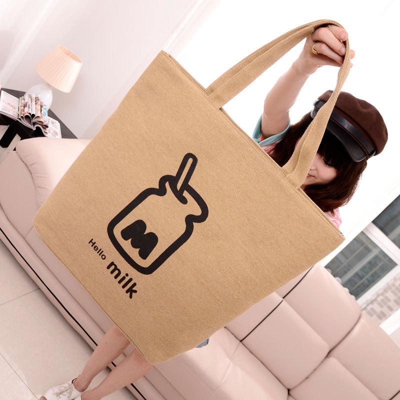 Factory outlets 2014 new canvas shoulder bag wave of cool style fashion handbags hot nipple(China (Mainland))