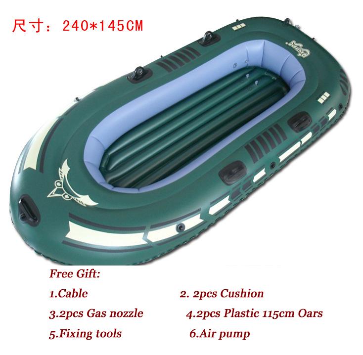 Fishing rubber boats portable folding inflatable boat 3 for Portable fishing boat