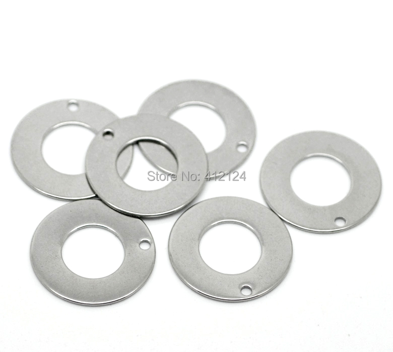 100Pcs Hot New DIY Silver Tone Stainless Steel Round Circle Pendants Blank Stamping Tags Charms Jewelry Findings 20mm