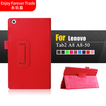 Buy case Leather lenovo tab2 A8 PU leather stand protective skin,Tablets & Case lenovo tab 2 A8-50 A8-50F A8-50LC case for $5.40 in AliExpress store