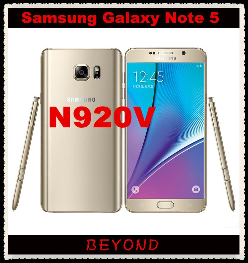 "Samsung Galaxy Note 5 N920V Verizon Version Original Unlocked 4G LTE Android Cell Phone Octa Core 5.7"" 16MP RAM 4GB ROM 32GB(China (Mainland))"