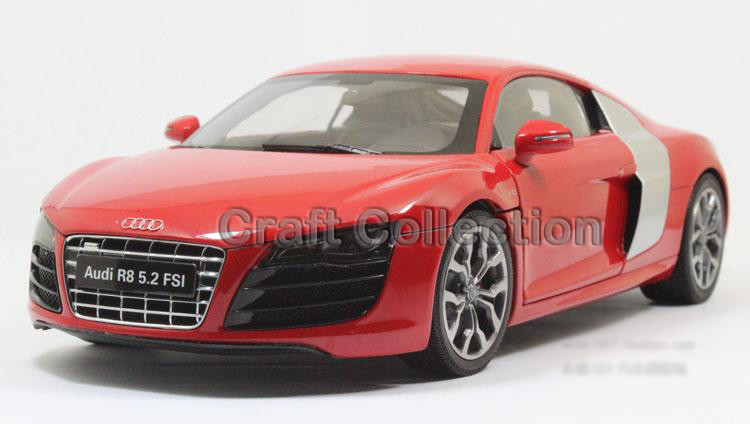 Purple Kyosho 1:18 Automobile Mannequin New Audi R8 V10 5.2 FSI Sport Automobile Tremendous Sport Automobile Coupe Alloy Miniature Toys