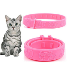 Cute Cats Soft Silicone Pet Cats Flea Collar Reject Tick Mite Louse Kitten Collar(China (Mainland))