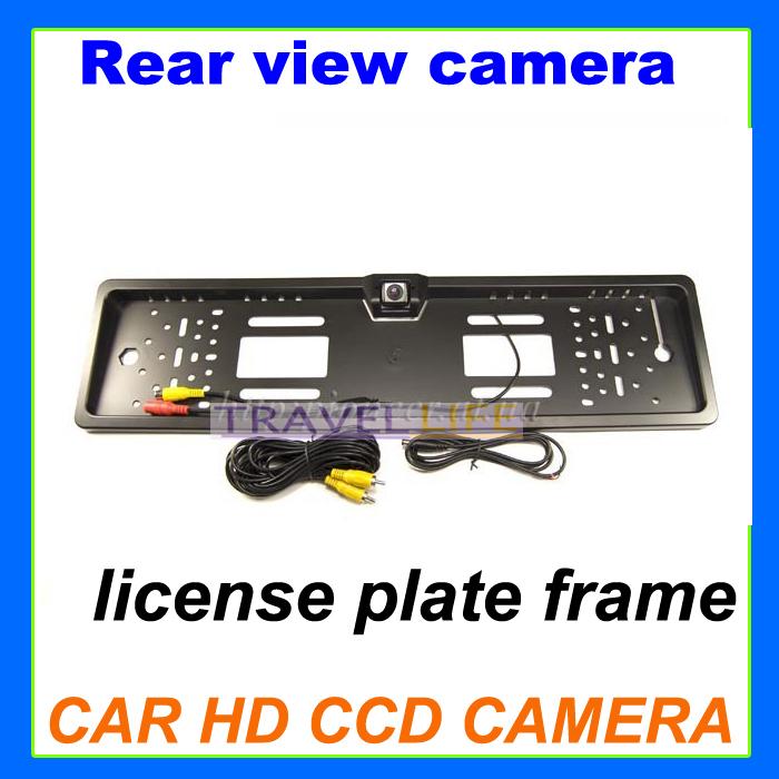 European car license plate camera frame Reverse Rearview backup CCD Car Camera Parking Assistance 420TVL black(China (Mainland))