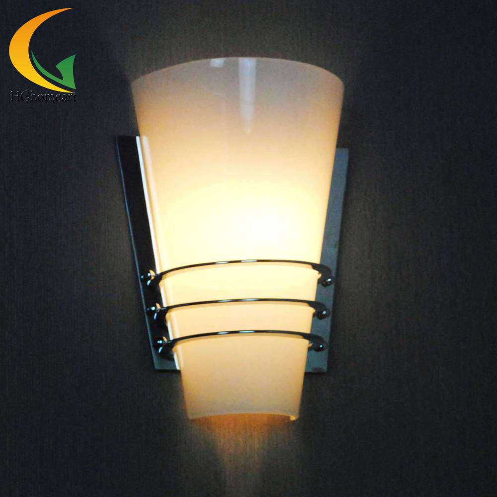 Simple moderne creative blanc lampe en verre de mode allée mur lampe chambre lampe de chevet