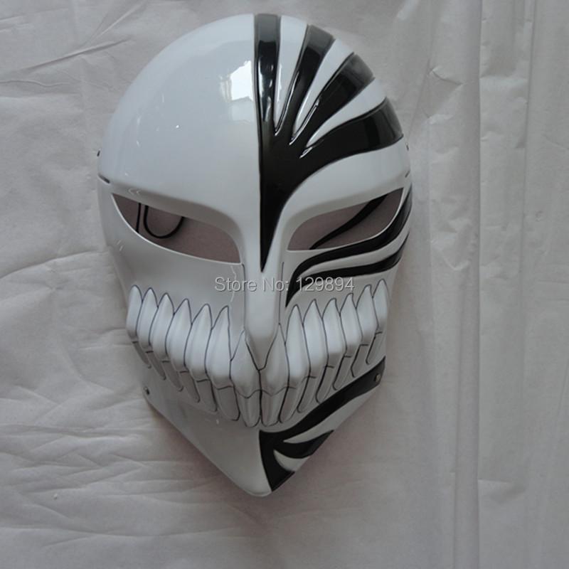 Masquerade mask full face carnival dance masks Death Ichigo Kurosaki Bleach Mask Halloween Cosplay Black Red - Shenzhen xuanku trading Co., LTD store