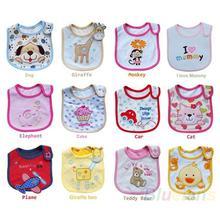 Wholesale Baby Girl Boy Towel Saliva Waterproof New Kids Cartoon Pattern 3 Layer Toddler Lunch Bibs Burp Cloths 02EO