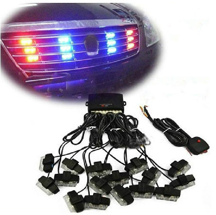 Bright Car Flash Decorative Lights Automotives 16 Led Rear Strobe Light Multipurpose Exterior