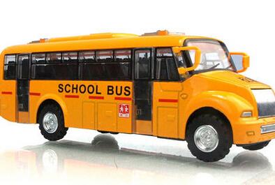 Acoustooptical WARRIOR alloy car mini bus school bus child car model toy(China (Mainland))