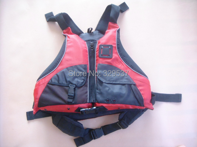 Free shipping CE Certified Kayak Life Jackets,Rafting life vest Adult free size red color Buoyancy aids PFD(China (Mainland))
