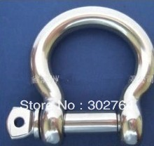 Paracord Bracelets EUROPEAN TYPE BOW SHACKLE M4*20pcs STAINLESS STEEL 316 marine/boat  hardware
