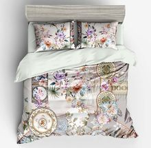 3D Digital Printing Flower Bedding set 3/4pcs Duvet Cover Pillowcases Bed Sheet Bedroom Home & Living Home Textile Bedclothes(China)