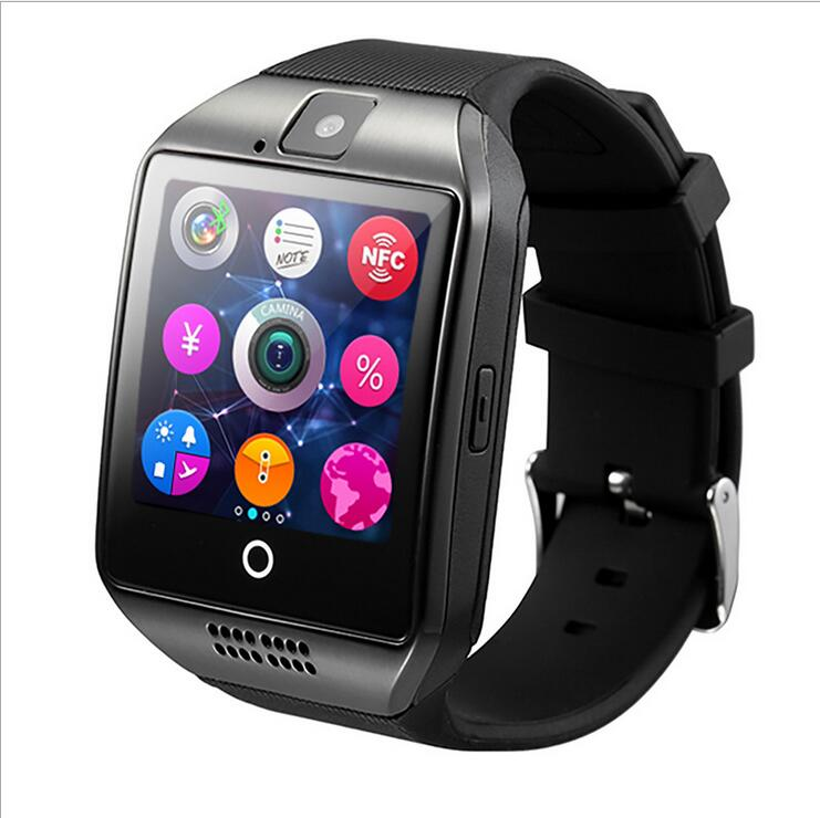 Free New Q18 Passometer Smart watch Touch Screen camera TF card Bluetooth smartwatch Android IOS Phone T30