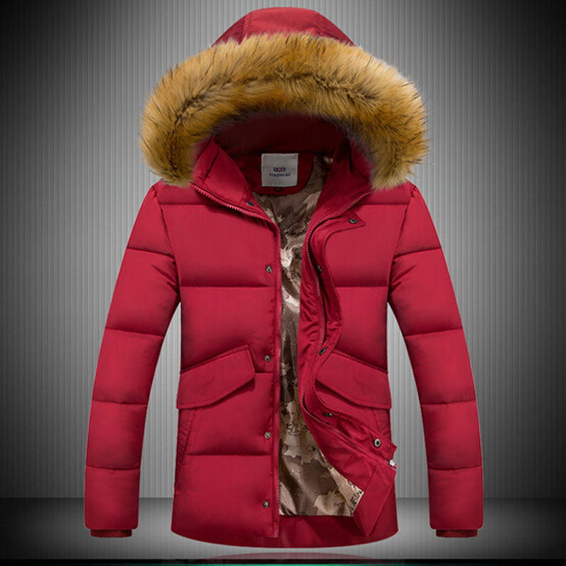 2015 New Arrival Winter Coat Men Jacket Thicker Keep Warm Casual Wear Long Style Hooded Fashion
