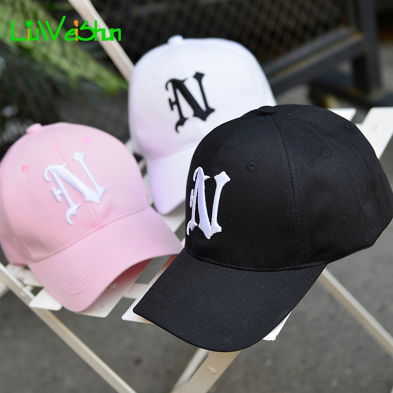 [LWS] 1 Piece Baseball Cap Solid color leisure hats with N letter embroidered cap for men and women Classical Golf Sport Cap(China (Mainland))