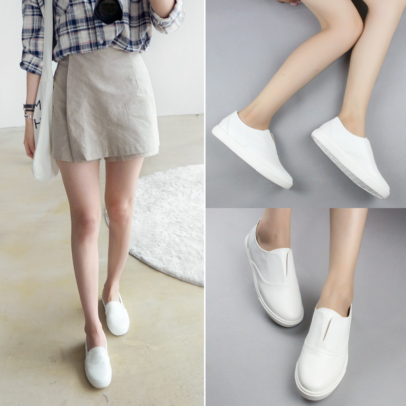 Brand Genuine Leather Women Shoes Flats fashion white Women Casual Shoes Lovely Loafers For Shoes Woman New Zapatos Mujer #D57 <br><br>Aliexpress