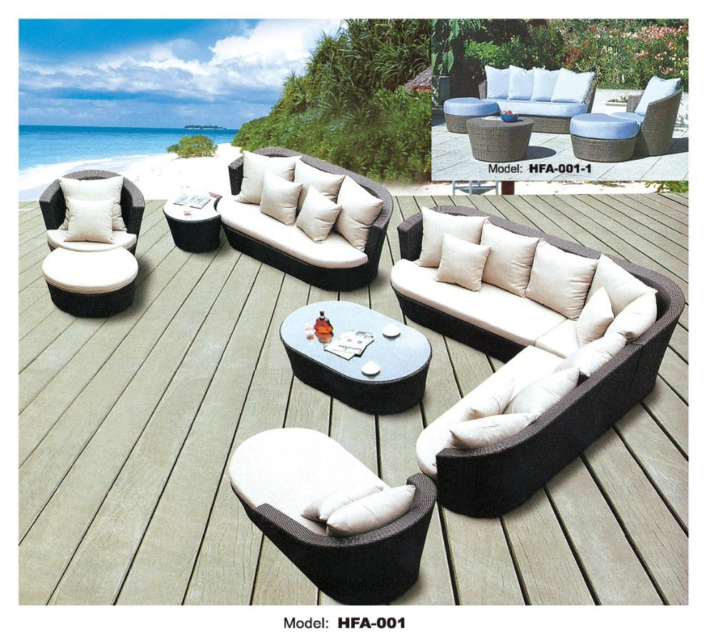Large Size Outdoor Sofa Set New Design Garden Furniture Large Rattan Sofa Set Wicker Patio Set