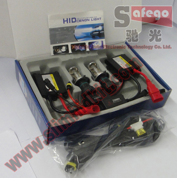 20 sets Bi Xenon 35W H4 12V DC HID Automotive Headlight Replacement Bulbs H4-3 BiXenon Hi/Lo Beam Lamp with wire FREE SHIPPING(China (Mainland))