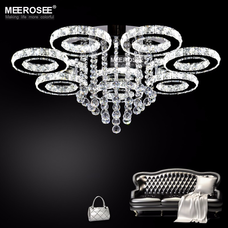 Modern led crystal chandelier ring circle lustre ceiling light led crystal chandelier 1 competitive price 2 products are 100 inspected before shipment 3 best before and after sales service 4 3 year warranty mozeypictures Gallery