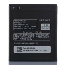 High Capacity 2000mAh BL210 Replacement Battery For Lenovo Phone S820 S820E A750E A770E A656 A766 A658T