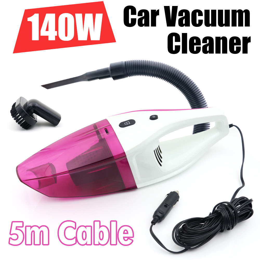 2015 New 140W Car vacuum Cleaner of Portable Handheld Wet & Dry Dual-use Super Suction 5meters DC 12V HEPA Filter Free Shipping(China (Mainland))