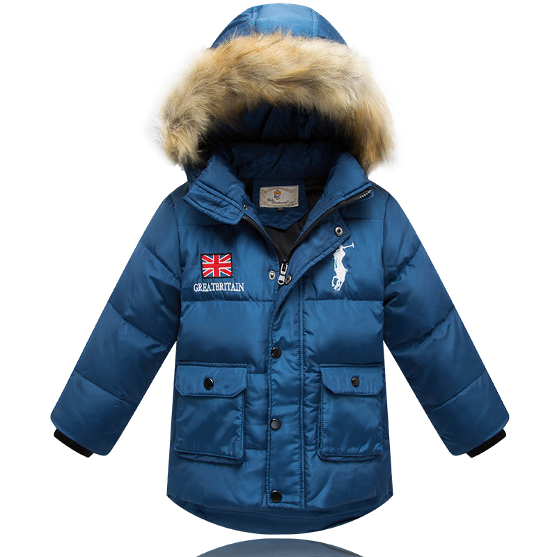 Top quality Children Down Coat big boy coat medium-long thickening down jacket casual childrens clothing for winter<br><br>Aliexpress
