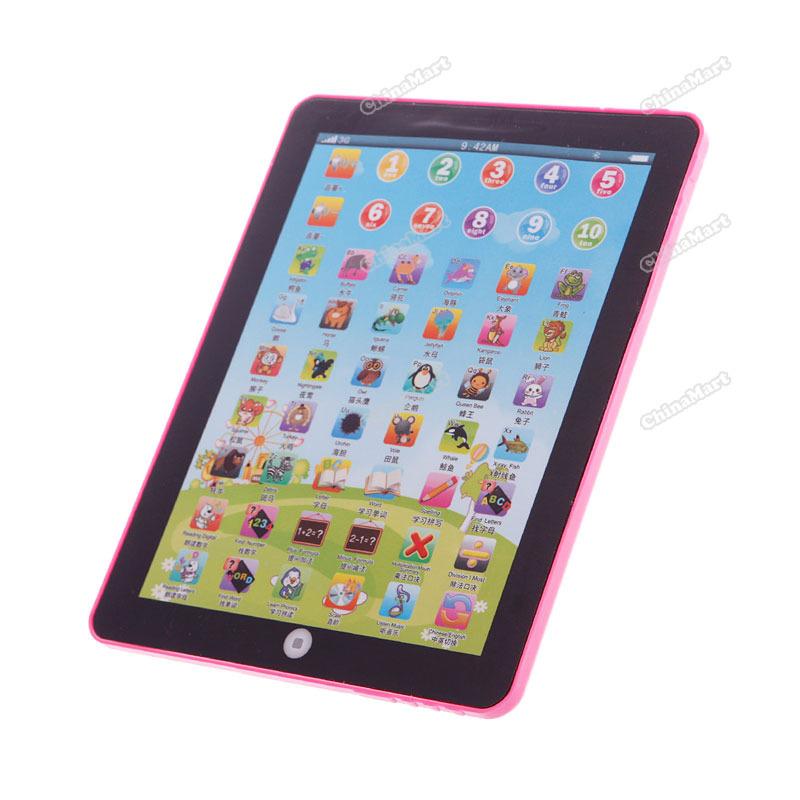 chinamart Full new Kids Educational Computer Tablet Chinese English Learning Study Machine Toy #03 Content!(China (Mainland))
