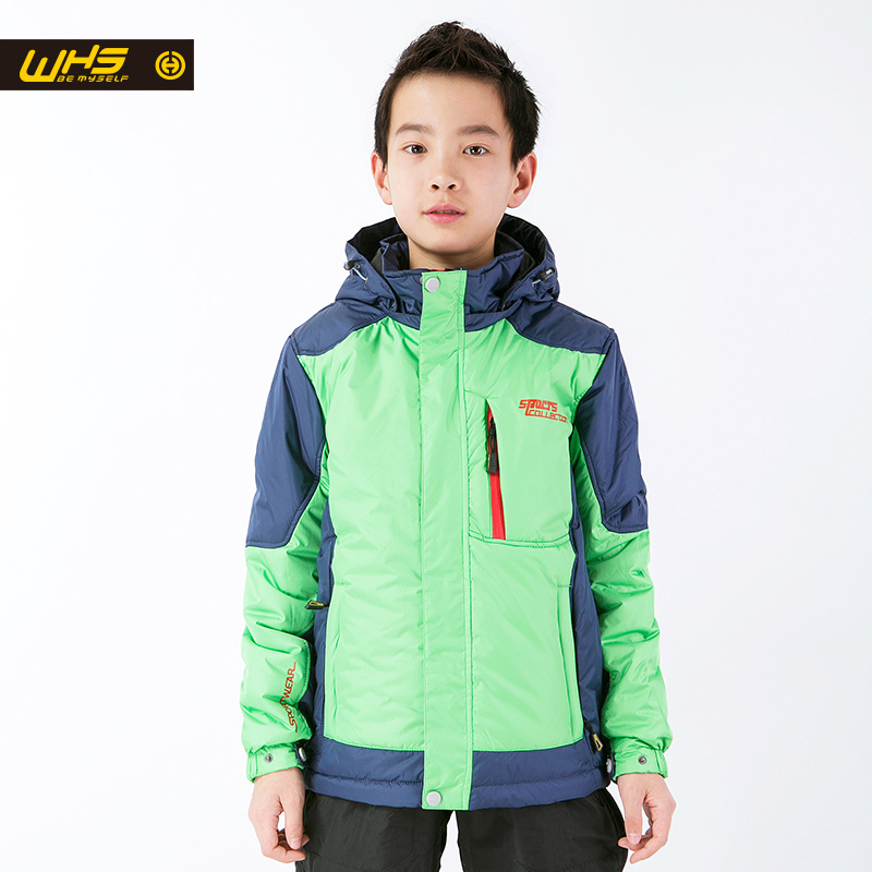 WHS 2016 Boys Sport cotton Jacket kids jackets Hiking Down outdoor camping &hiking coat Children's high-quality Clothes(China (Mainland))