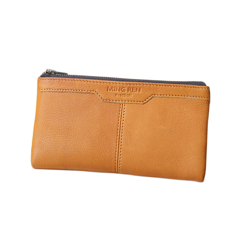 Famous Brand Top Grade Luxury Expensive Unisex 100% Genuine Leather Long Clutch Wallet Card Coin Purse Handbag Free Shipping(China (Mainland))