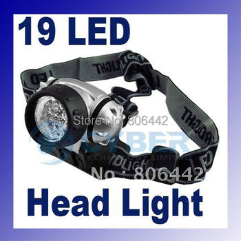 19 LED Head Lamp Camp Light Torch Headlight High Intensity New Hiking Camping Free Shipping 31