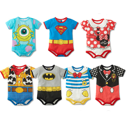 Summer style short sleeve baby rompers cartoon baby boy clothes baby clothing girl costumes roupas de