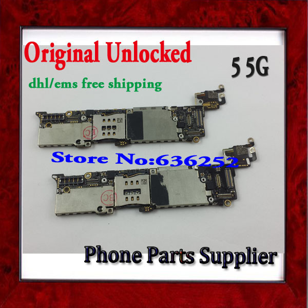 DHL/EMS Free Shipping For iphone 5 5g Mainboard Original,16G Unlocked For iphone 5 5g Mother Board with Chip,High Quality(China (Mainland))