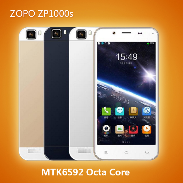 Original 5.0'' ZOPO ZP1000S Cell Phone MTK6582M Quad Core Ultrathin Promotion Android 4.4 Dual SIM 1GB RAM 32GB ROM 8.0MP Camera(China (Mainland))