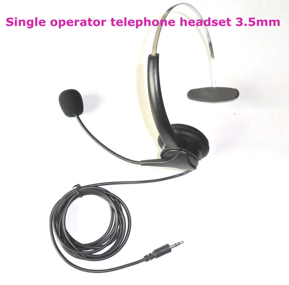 Single 3.5 mm plug telephone headset headset operator dedicated call center headsets(China (Mainland))