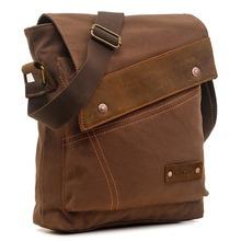 EcoCity New Fashion Designer Mens Canvas Messenger Bags Boys Bag School Satchel ,Business Shoulder Bags(China (Mainland))