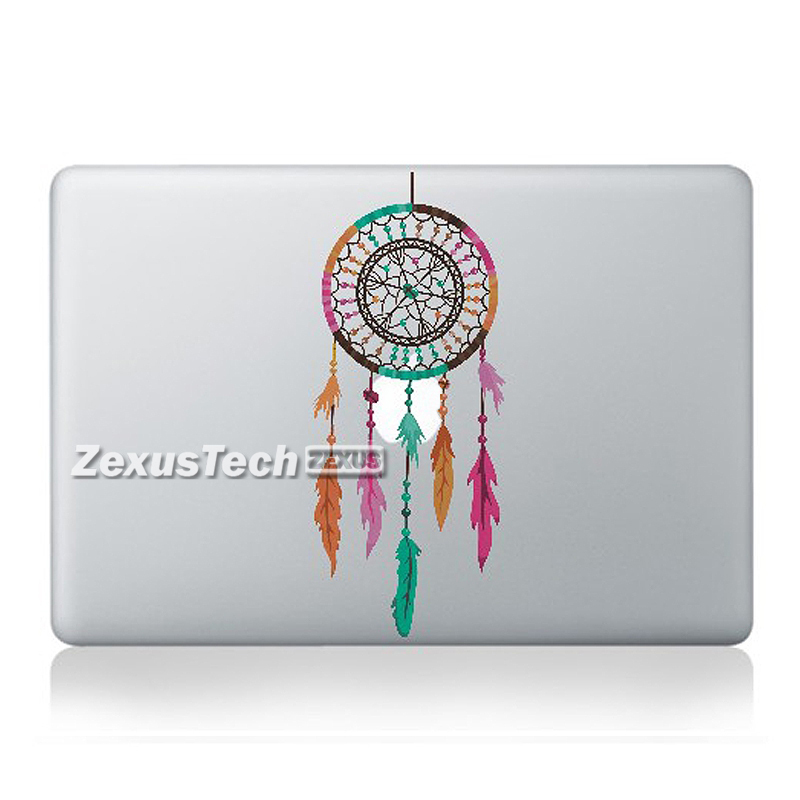 Colorful Dreamcatcher For Macbook Decal Laptop Skins Air Retina Pro13 Inch Stickers Laptop Skin Flower Cover(China (Mainland))