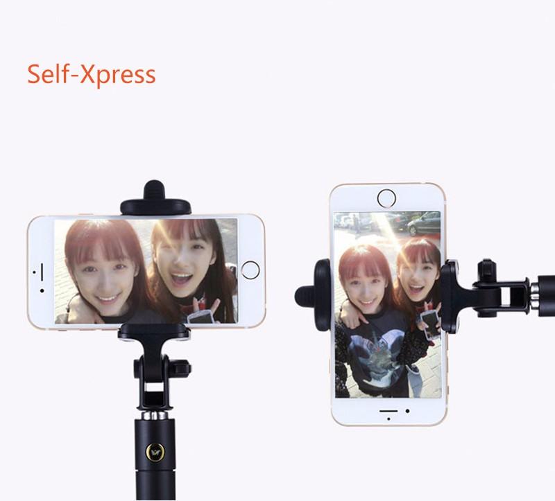 3 generation folding mini wire control Built-in Shutter Monopod Stick selfie stick For Xiaomi Samsung note 7 iPhone Smart Phone