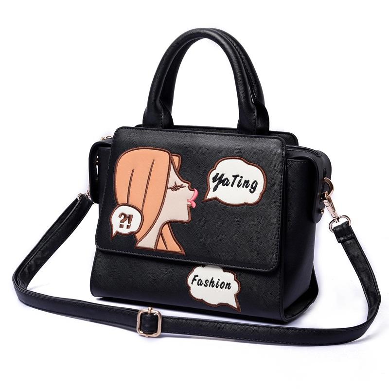 Our bags 2016 autumn and winter fashion handbags adorable girl fun Shoulder Bag Messenger Bag(China (Mainland))