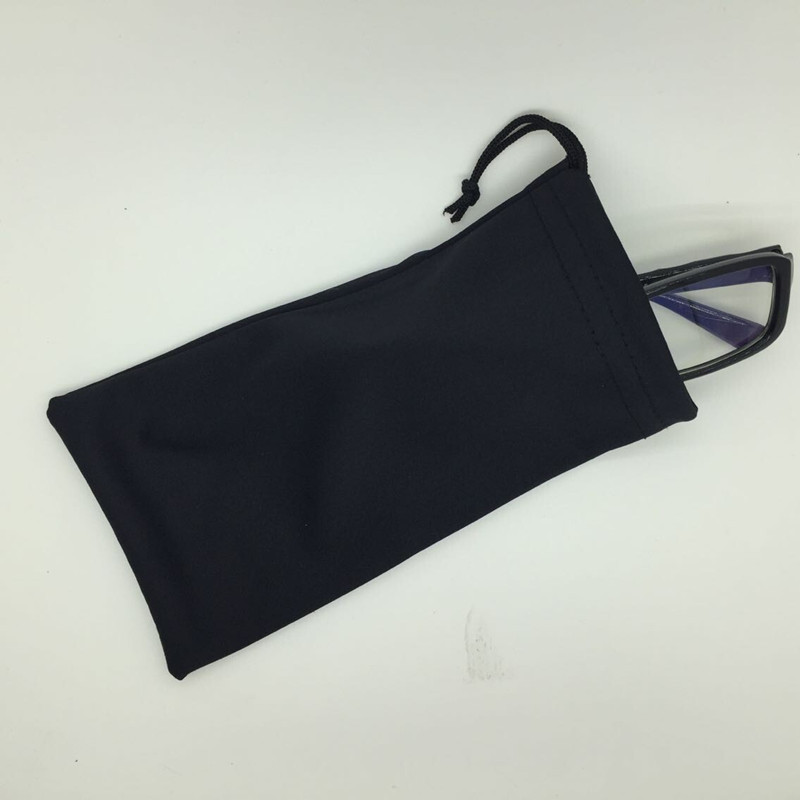 Freeshipping Black Microfiber Sunglass Bags Glasses Pouch Eye Glass Bag Women Telepone Jewelry Bag(China (Mainland))